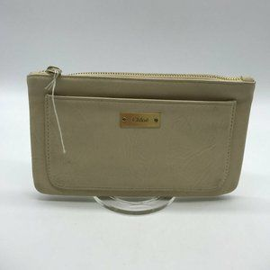 Chloe Ivory Leather Pouch